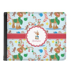 Reindeer Genuine Leather Men's Bi-fold Wallet (Personalized)