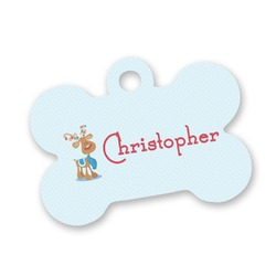 Reindeer Bone Shaped Dog ID Tag (Personalized)