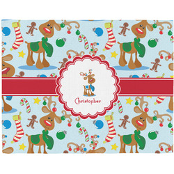 Reindeer Woven Fabric Placemat - Twill w/ Name or Text