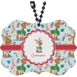 Reindeer Rear View Mirror Charm (Personalized)