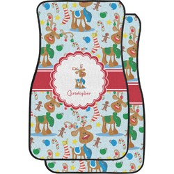 Reindeer Car Floor Mats (Front Seat) (Personalized)