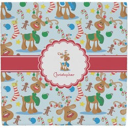 Reindeer Ceramic Tile Hot Pad (Personalized)