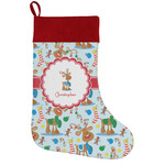 Reindeer Holiday Stocking w/ Name or Text