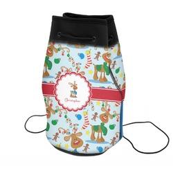 Reindeer Neoprene Drawstring Backpack (Personalized)