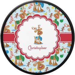 Reindeer Round Trailer Hitch Cover (Personalized)