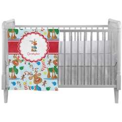 Reindeer Crib Comforter / Quilt (Personalized)