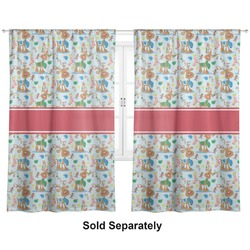"Reindeer Curtains - 56""x80"" Panels - Lined (2 Panels Per Set) (Personalized)"