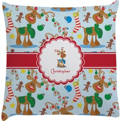 Reindeer Decorative Pillow Case (Personalized)