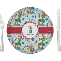 Reindeer Glass Lunch / Dinner Plates 10