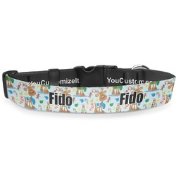 """Reindeer Deluxe Dog Collar - Toy (6"""" to 8.5"""") (Personalized)"""