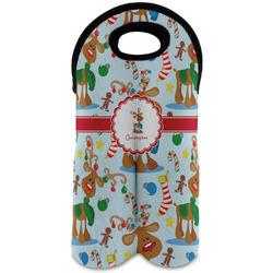 Reindeer Wine Tote Bag (2 Bottles) (Personalized)