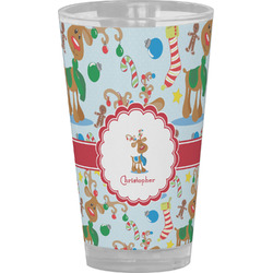 Reindeer Drinking / Pint Glass (Personalized)
