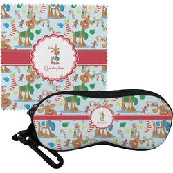 Reindeer Eyeglass Case & Cloth (Personalized)