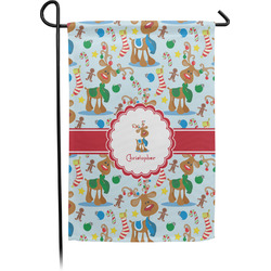 Reindeer Garden Flag - Single or Double Sided (Personalized)