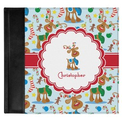 Reindeer Genuine Leather Baby Memory Book (Personalized)