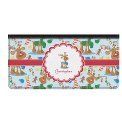 Reindeer Genuine Leather Checkbook Cover (Personalized)