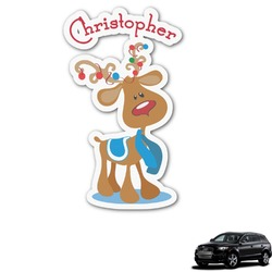 Reindeer Graphic Car Decal (Personalized)