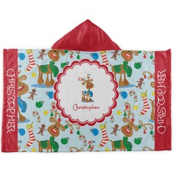 Reindeer Kids Hooded Towel (Personalized)