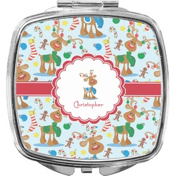 Reindeer Compact Makeup Mirror (Personalized)