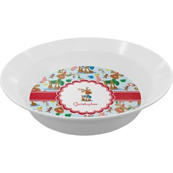 Reindeer Melamine Bowl (Personalized)