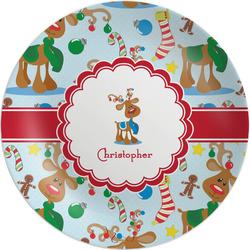 Reindeer Melamine Plate (Personalized)