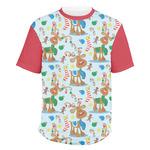 Reindeer Men's Crew T-Shirt (Personalized)