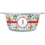 Reindeer Stainless Steel Pet Bowl (Personalized)