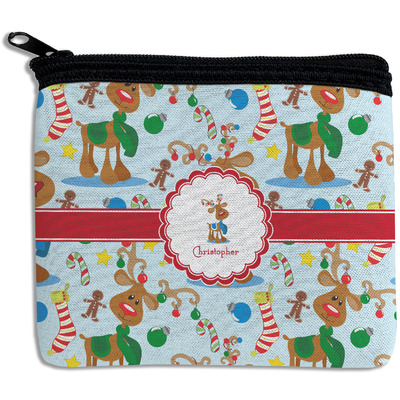 Reindeer Rectangular Coin Purse (Personalized)