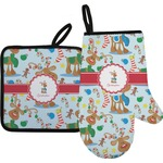 Reindeer Oven Mitt & Pot Holder (Personalized)