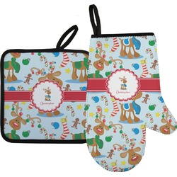 Reindeer Oven Mitt & Pot Holder (Personalized)