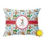 Reindeer Outdoor Throw Pillow (Rectangular) (Personalized)