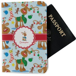Reindeer Passport Holder - Fabric (Personalized)