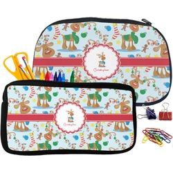 Reindeer Pencil / School Supplies Bag (Personalized)