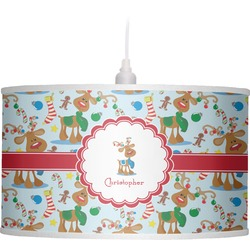 Reindeer Drum Pendant Lamp (Personalized)