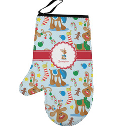 Reindeer Left Oven Mitt (Personalized)