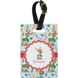 Reindeer Rectangular Luggage Tag (Personalized)