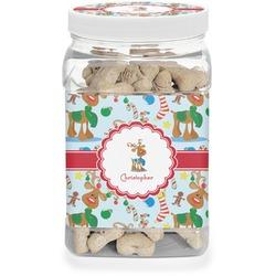 Reindeer Pet Treat Jar (Personalized)