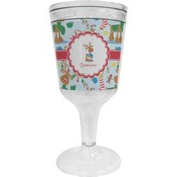 Reindeer Wine Tumbler - 11 oz Plastic (Personalized)