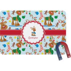 Reindeer Rectangular Fridge Magnet (Personalized)