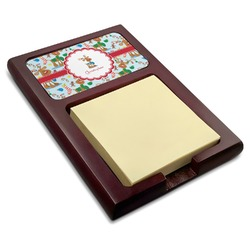 Reindeer Red Mahogany Sticky Note Holder (Personalized)