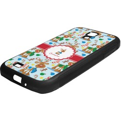 Reindeer Rubber Samsung Galaxy 4 Phone Case (Personalized)