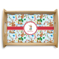 Reindeer Natural Wooden Tray (Personalized)