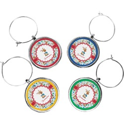 Reindeer Wine Charms (Set of 4) (Personalized)