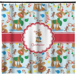Reindeer Shower Curtain (Personalized)