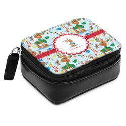Reindeer Small Leatherette Travel Pill Case (Personalized)