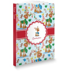 """Reindeer Softbound Notebook - 7.25"""" x 10"""" (Personalized)"""