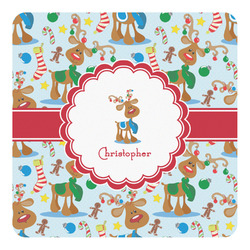 Reindeer Square Decal - Custom Size (Personalized)