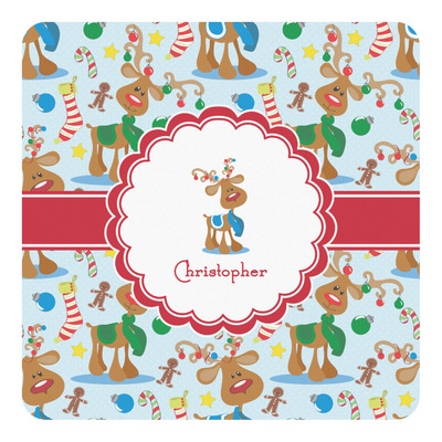 Reindeer Square Decal (Personalized)