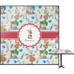 Reindeer Square Table Top (Personalized)