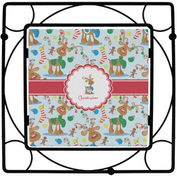 Reindeer Square Trivet (Personalized)